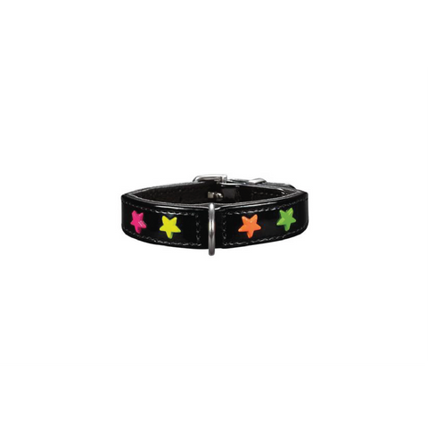 Hunter - Collar Leather For Dog Miami Mini Black 1.6cm - zoofast-shop
