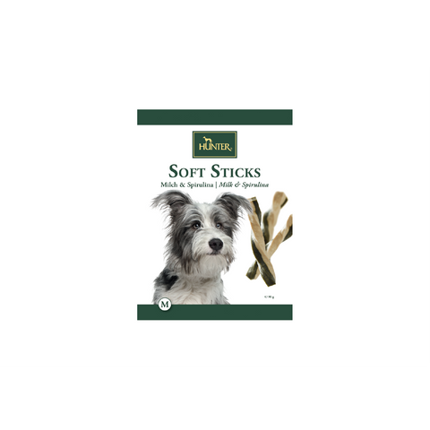 Hunter - Snack For Dog Soft Sticks Milk & Spirulina 90g - zoofast-shop