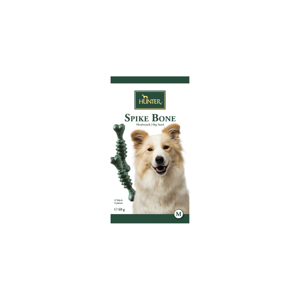 Hunter - Snack For Dog Spike Bone Mint M 4pcs