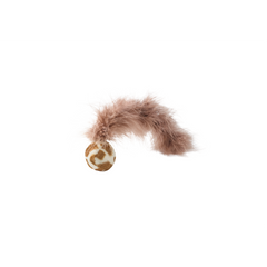 Hunter - Toy For Cat Ball With Feather Tail & Catnip 4cm - zoofast-shop