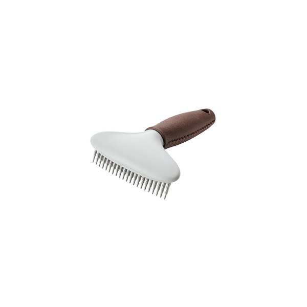 Hunter - Comb For Dogs Detangling Rake Double Row Spa Brown-Grey