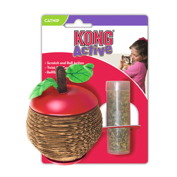 KONG - Scratch Apple With Refillable Catnip Core