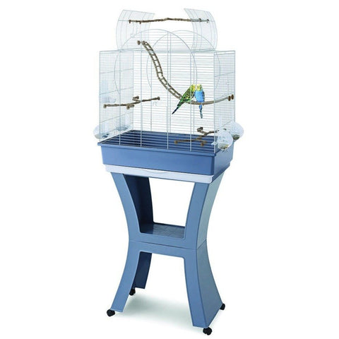 Imac - Cage For Birds Matilda White - Sky Blue - 58cmX38cmX71cm - 143cm - zoofast-shop