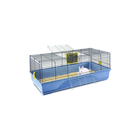 Imac - Cage For Rabbit Easy 120 Blue - Black - 120cmX60cmX46.5cm - zoofast-shop