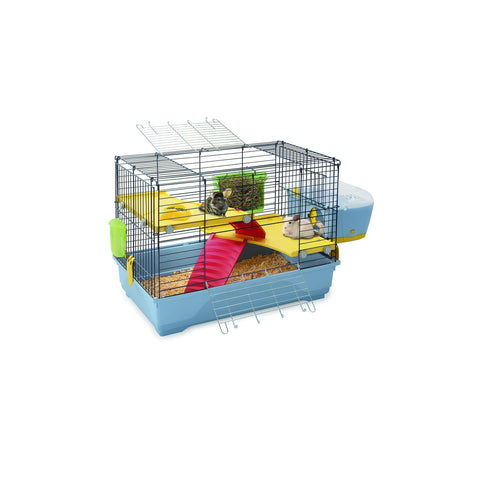 Imac - Cage For Small Animals Benny 80 Black - Blue - 80cmX48.5cmX60cm - zoofast-shop