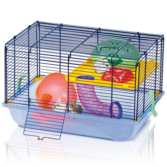 Imac - Cage For Hamster 9 Blue-Sky Blue 45x30.5x29cm - zoofast-shop