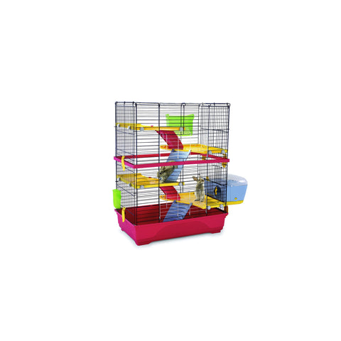 Imac - Cage For Small Animals Gabbia Double 80 Blue - Red - 80cmX48.5cmX104cm - zoofast-shop