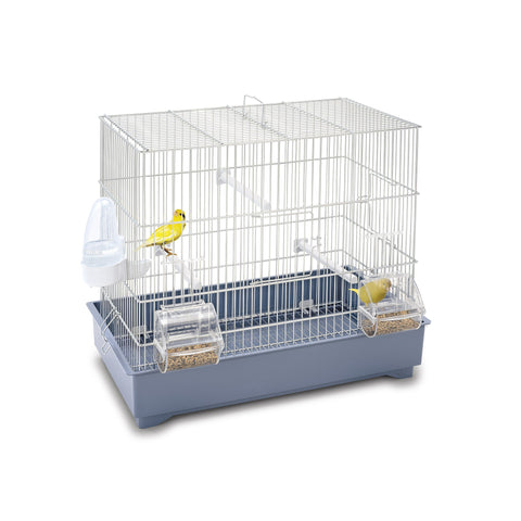 Imac - Cage For Birds Cova 42 - White-Blue 44cmX27cmX39cm - zoofast-shop