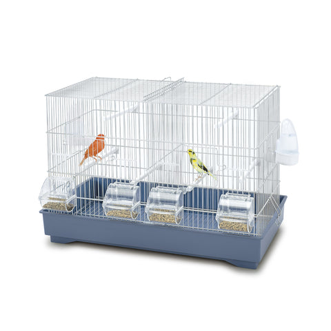 Imac - Cage For Birds Cova 55 - White-Blue 58cmX31cmX40cm - zoofast-shop