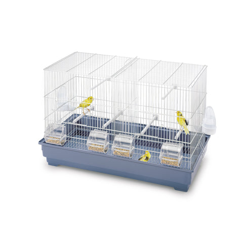 Imac - Cage For Birds Cova 65 - White-Blue  67cmX34.5cmX43.5cm - zoofast-shop