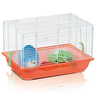 Imac - Cage For Hamster 2 White-Red 45x30.5x29cm - zoofast-shop