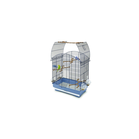 Imac - Cage For Birds Agata Black - Blue - 58cmX33cmX62.5cm - zoofast-shop
