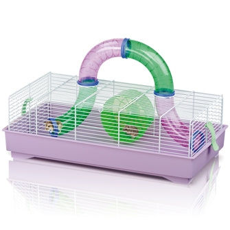 Imac - Cage For Hamster Play time White-Lilac 58x31x18.5cm - zoofast-shop