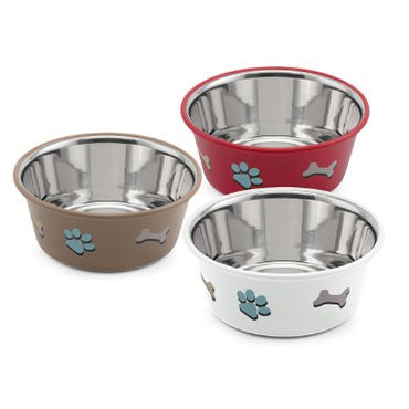 Imac - Bowls in Stain. Steel Paw & Bone Cutie Mixed Col. - zoofast-shop