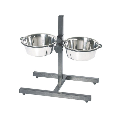 Imac - Bowl Stand 21cm With 2 Stainless Steel Bowls - zoofast-shop