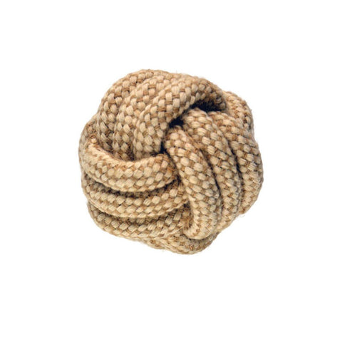 Imac - Toy For Dogs Ball With Natural Cord 7cm - zoofast-shop