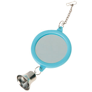 Flamingo - Toy For Parakeets Mirror Round+Bell 6cm