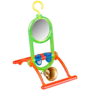 Flamingo - Toy For Budgies Mirror+Bell 12x7x16.5cm
