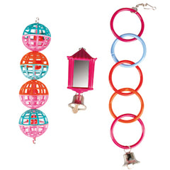 Flamingo - Toy For Parakeets Ring Balls Lantern 25cm - zoofast-shop