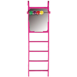 Flamingo - Toy For Parakeets Ladder With Bell + Beds 6x20cm