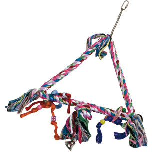 Flamingo - Toy For Birds Cage Hanger Rope Triangle M