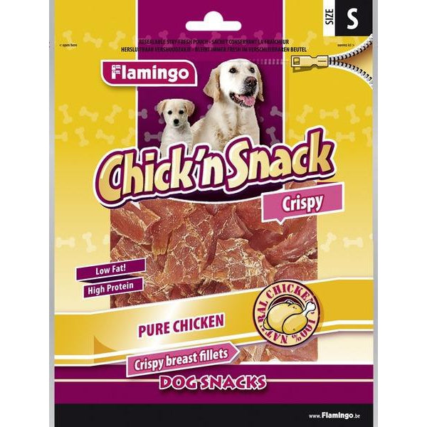 Flamingo - Snack Chick'n Knotted Bones Chicken & Rawhide 85g