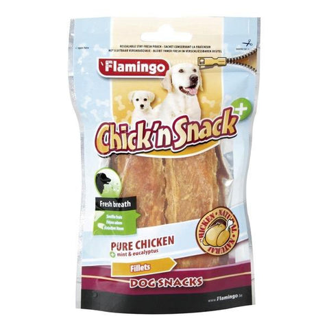 Flamingo - Snack Chick'n Fillets Fresh Breath Pure Chicken 85g - zoofast-shop