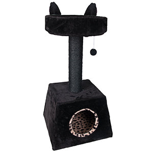 Flamingo - Scratching Pole Cheeta Big Cat Black 41x41x80cm