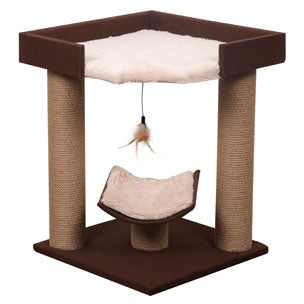 Flamingo - Scratching Pole Square Brown 43.5x43.5x54cm - zoofast-shop