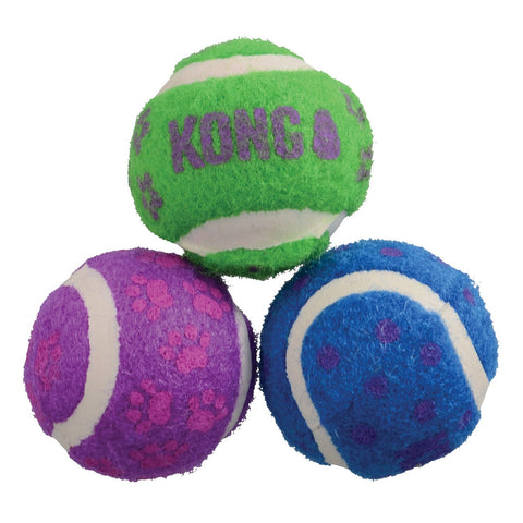 KONG - Cat Tennis Balls With Bells - zoofast-shop