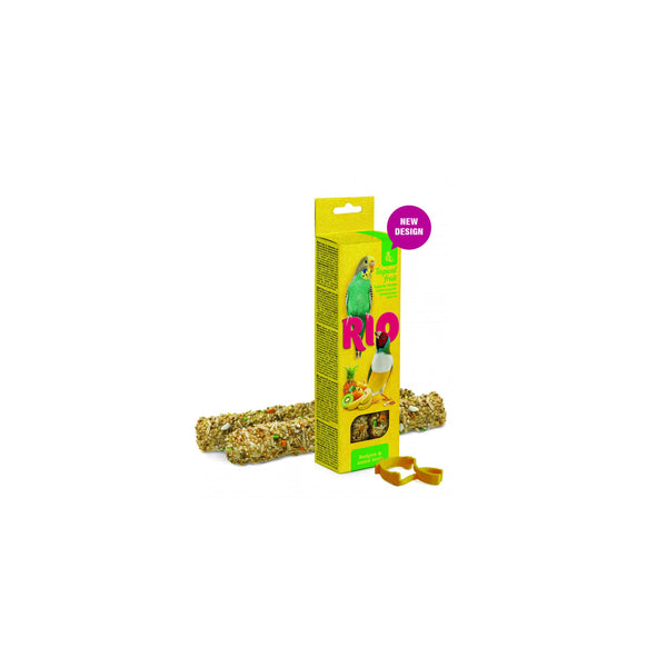 RIO - Sticks For Budgies & Exotic Birds With Tropical Fruit 2x40g