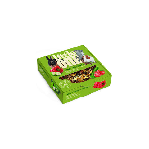 Little One - Snack For All Small Mammals Vegetable Pizza 55g - zoofast-shop