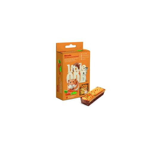 Little One - Biscuits For All Small Animals with Carrot & Spinach 5X7g - zoofast-shop
