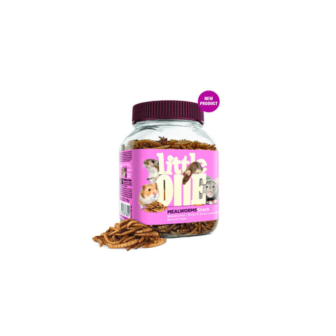 Little One - Snack For All Small Mammals Mealworms 70g - zoofast-shop