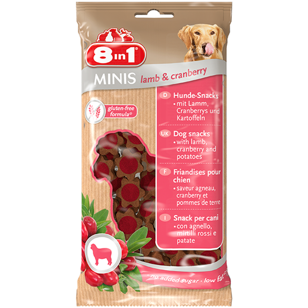 8in1 - Minis Lamb & Cranberry 100g