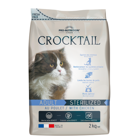 Crocktail Adult Sterilized with Chicken