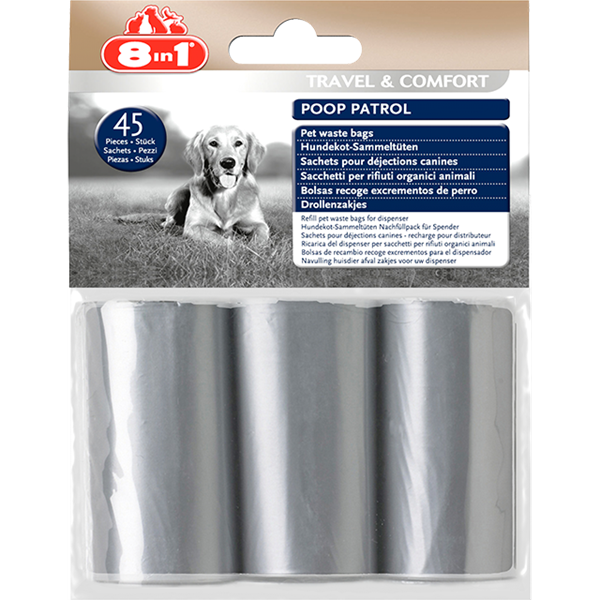 8in1 - Waste Bags Poop Patrol 45pcs