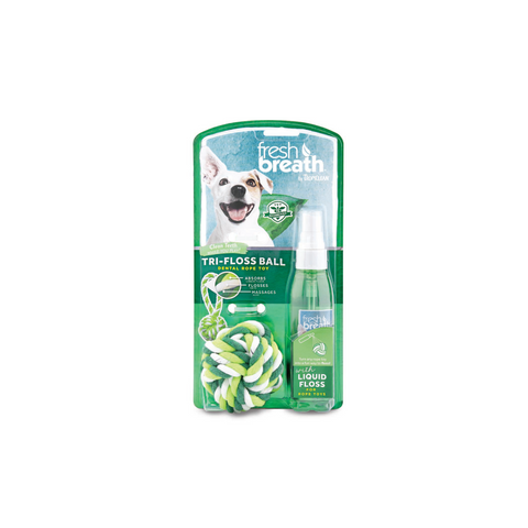 Tropiclean - Liquid Floss & Trifloss Ball For Small Dogs 118ml - zoofast-shop