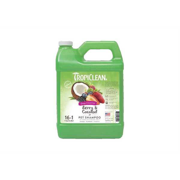 Tropiclean - Shampoo For Dogs & Cats Berry & Coconut 3.8L