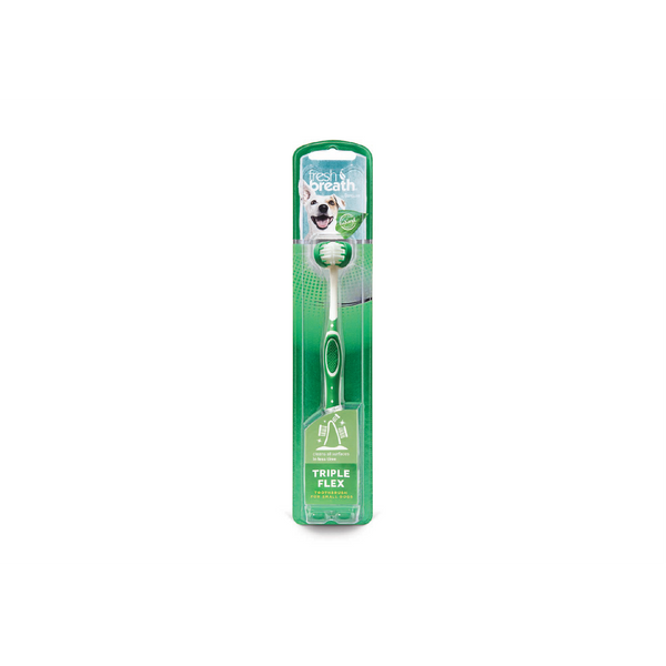 TropiClean - Toothbrush Fresh Breath Triple Flex Small Dogs