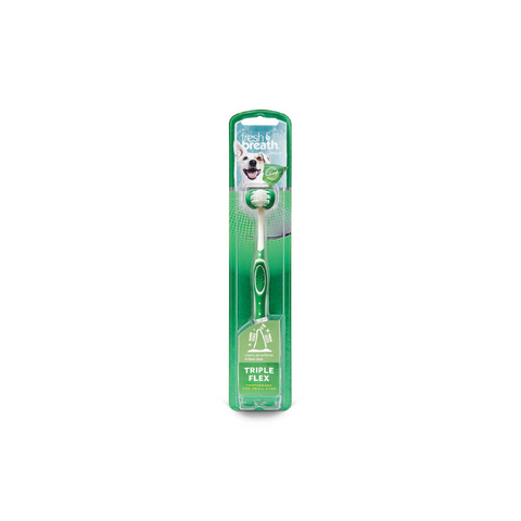 TropiClean - Toothbrush Fresh Breath Triple Flex Small Dogs - zoofast-shop