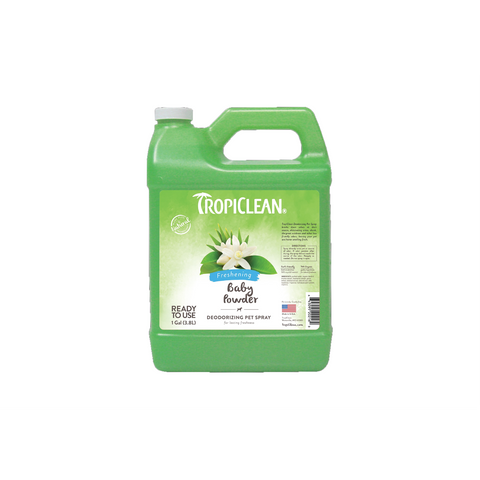TropiClean – Cologne Spray for Dogs & Cats Baby Powder 3.78L - zoofast-shop