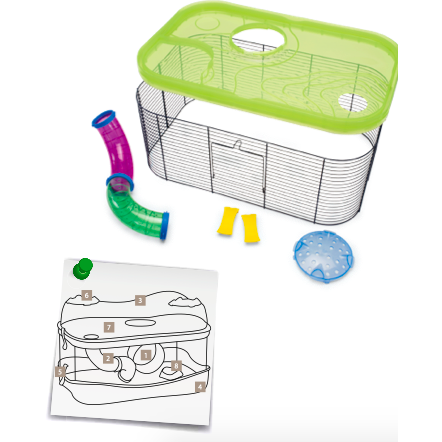 Imac - Cage For Hamsters Kit Fantasy