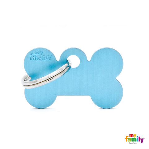 MyFamily - Basic Bone ID Tag Anodized Aluminium