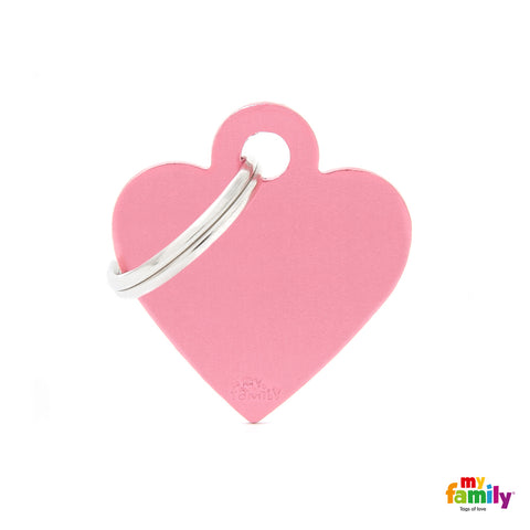 MyFamily - Basic Heart ID Tag Anodized Aluminium