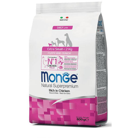 MONGE Daily Line X-Small Puppy & Junior Chicken 800g