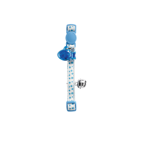 Hunter - Collar For Cat Baby Dots Light Blue - zoofast-shop