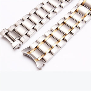 19/20/21mm Watch Band Strap Stainless Steel Watchband Bracelet with solid arc interface