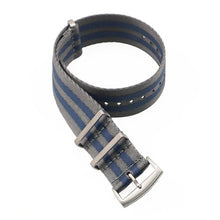 Load image into Gallery viewer, 20 22 mm Blue/Grey Striped Nato Strap for Army Sport Watch Nylon Watchband Strap On For Hours For James Bond Watch