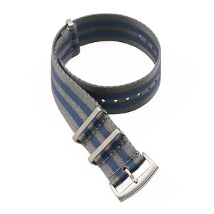 20 22 mm Blue/Grey Striped Nato Strap for Army Sport Watch Nylon Watchband Strap On For Hours For James Bond Watch
